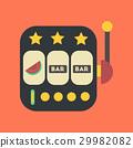 flat icon on stylish background slot machine 29982082