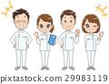 一個小組的例證白人女孩和男人和婦女 29983119