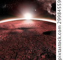 The abstract red landscape of Mars planet. Looks 29984559