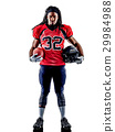 american football player man isolated 29984988