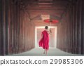 Buddhist novice is walking in temple, Myanmar 29985306