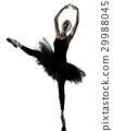 Ballerina dancer dancing woman  isolated silhouett 29988045