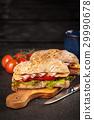 Delicious ciabatta sandwich 29990678