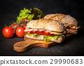 Delicious ciabatta sandwich 29990683