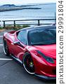 深红色跑车 29991804
