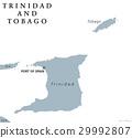 Trinidad and Tobago political map 29992807