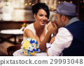 the groom kisses the bride's hands 29993048