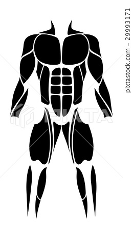Muscles Abstract Figure Icon 29993171