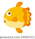 Sunfish, sea creatures character, icon 29993421
