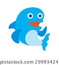 ไอคอนตัวละครปลาโลมาสัตว์ทะเล 29993424