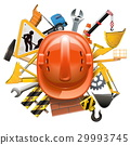 Vector Construction Concept with Helmet 29993745