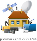 satellite, house, equipment 29993746