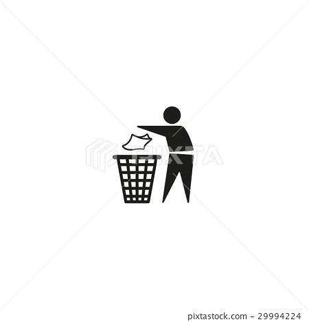 Tidy man symbol on white background 29994224