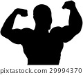 athlete bodybuilder back double biceps  29994370