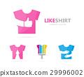 Vector of cloth and like logo combination. Shirt 29996002