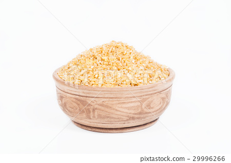 Groats from wheat in a dish 29996266