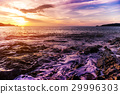 Seascape landscape nature in twilight 29996303