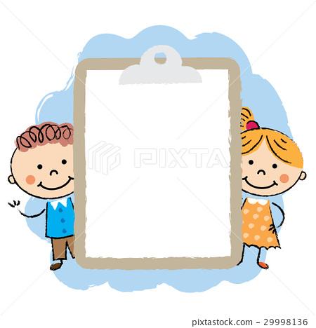 Cute cartoon kids frame 29998136