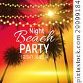 party, summer, vector 29999184