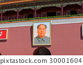 Tiananmen gate with portrait of Mao Zedong 30001604