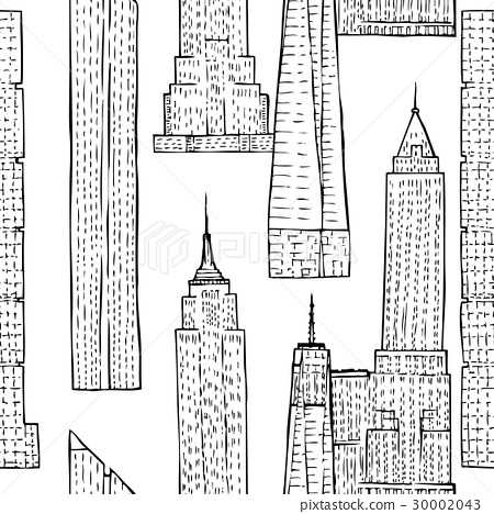 Seamless pattern with Skyscrapers 30002043