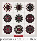 Set of mandalas. Decorative round ornaments. Anti 30003637
