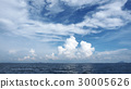 Clouds and blue sky over the sea. 30005626