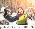 teen boy throwing snow ball outdoor 30005692