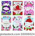 Springtime greeting cards spring flowers bouquets 30006024