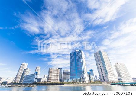 沿河和藍天的塔公寓小組 30007108