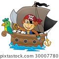 船 海盜 猴子 30007780