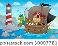 Boat with pirate monkey theme 2 30007781