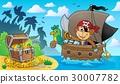 船 海盜 猴子 30007782