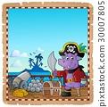 parchment, pirate, hippo 30007805