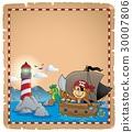 羊皮紙 船 海盜 30007806