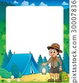Summer frame with scout boy theme 2 30007836