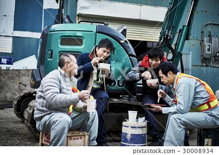施工現場工人午餐 30008934