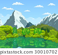 Summer landscape with green forest 30010702