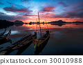 Fishing boats with nature 30010988