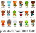 动物 卡通 矢量 30011601