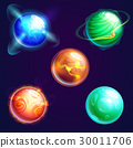 Set of isolated universe planets or cosmos stars 30011706