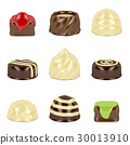 Chocolate candies on white 30013910