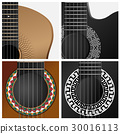 Vector icon of some types guitar. 30016113