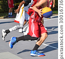 Basketball players outdoors 30016736