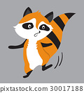 raccoon animal cute little cartoon. 30017188