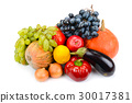 fruits and vegetables isolated on white background 30017381