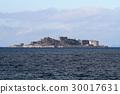 gunkanjima, hashima island, blue water 30017631