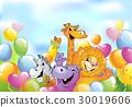 动物 卡通 快乐 30019606