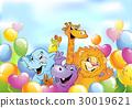 动物 卡通 快乐 30019621