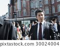 Middle businessman business trip Tokyo station 30024004